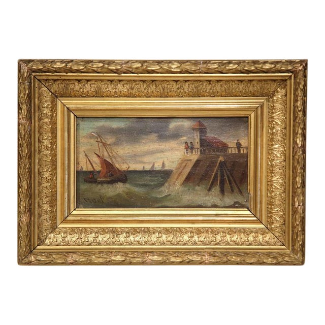 19th Century French Oil on Board Paintings - A Pair - Image 1 of 9