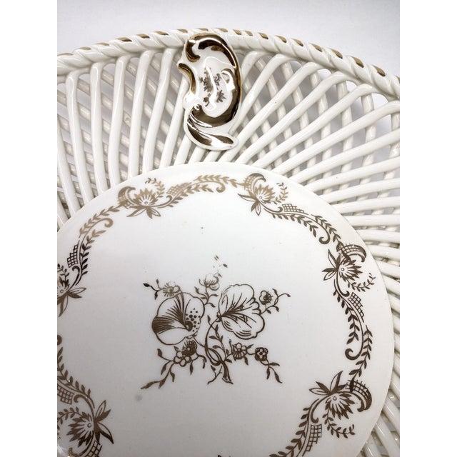 Spanish Lattice Weave Ceramic Dish - Image 6 of 11