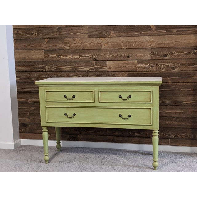 1950s Mid Century Green Chest With Drawers For Sale In Atlanta - Image 6 of 13