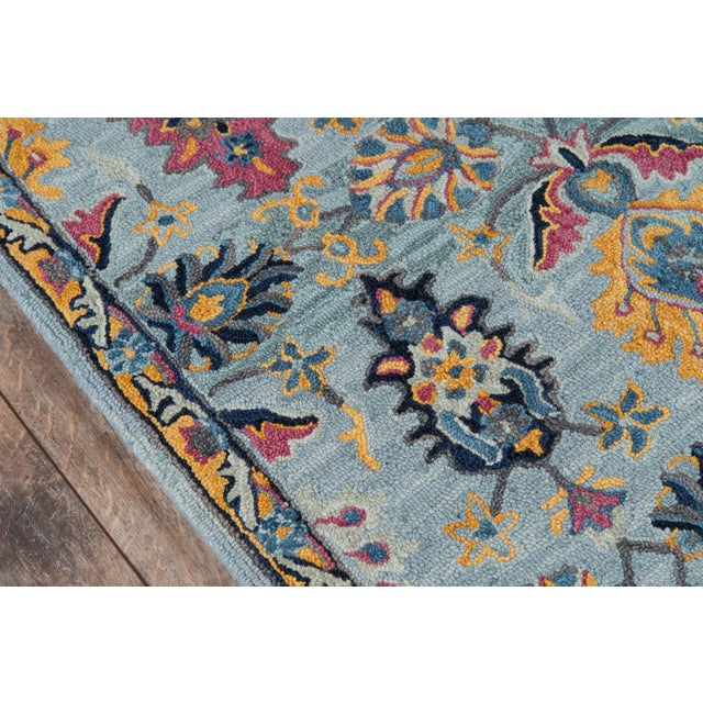 Traditional Ibiza Blue Hand Tufted Area Rug 3' X 5' For Sale - Image 3 of 8