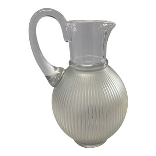 1970s Lalique France Crystal Pitcher For Sale