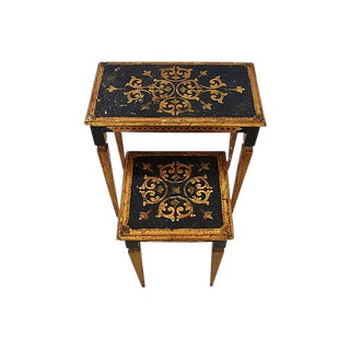 1950s Italian Venetian Florentine Nesting Tables - Set of Two