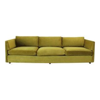 1960s Chartreuse Velvet Sofa