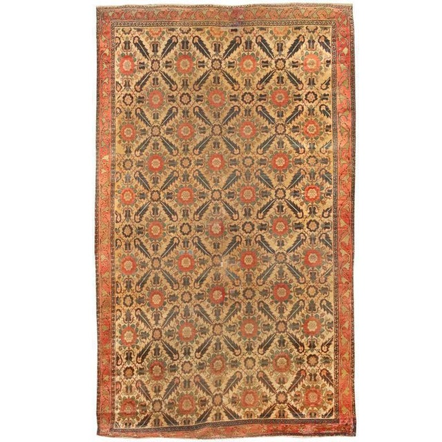Antique early 19th century north west Persian carpet. Contact dealer.