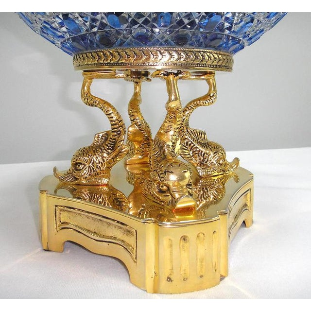 Monumental Crystal and 24k Caviar Bowl by Cristal Benito For Sale - Image 9 of 13