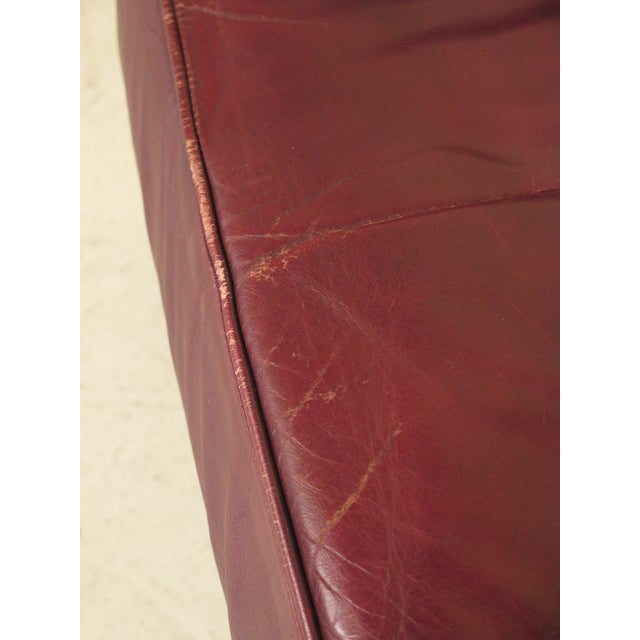 Burgundy Leather Club Chairs - A Pair - Image 5 of 13