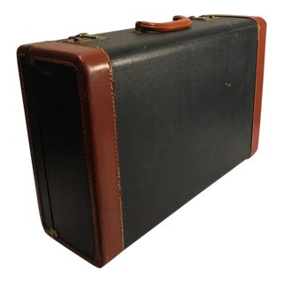 Vintage Streamline Retro Leather Hard Shell Luggage Suitcase