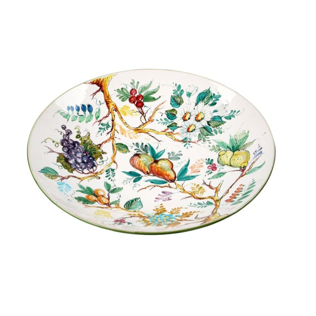 Italian Ceramic Fruit Plate For Sale