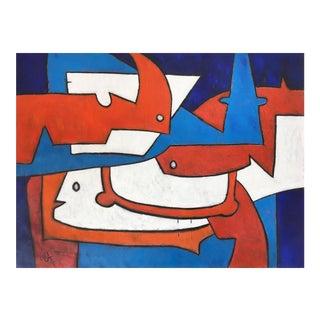 """Contemporary Abstract Painting """"El Pensamiento No Se Piensa II"""" by Maximo Caminero For Sale"""