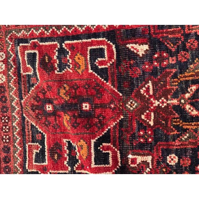"Vintage Persian Qashghi Rug - 5'1""x8' - Image 5 of 9"