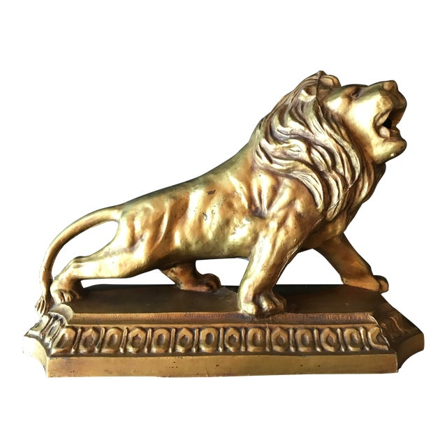 1950s Metal Lion Sculpture/Statue For Sale