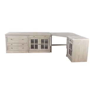 Traditional Pottery Barn Livingston Modular Corner Desk For Sale