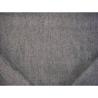 14y Lee Jofa Threads Arapa Graphite Striated Chenille Drapery Upholstery Fabric For Sale