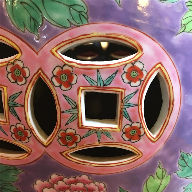 Pastel Colored Chinese Garden Stools - A Pair - Image 8 of 10