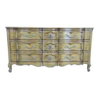 French Provincial Faux Painted Dresser For Sale