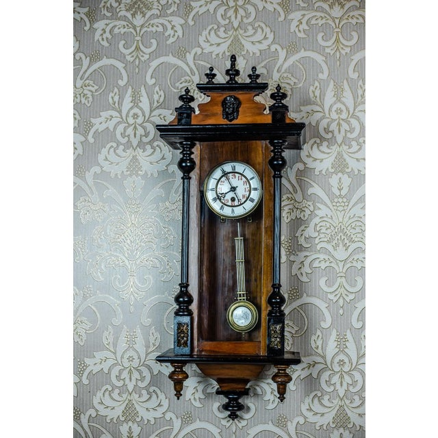 We present you a wall clock from the 2nd half of the 19th century in a wooden case. The case has not undergone renovation...