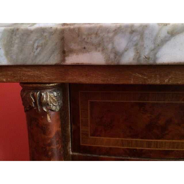 French Empire-Style Burlwood Side Table - Image 4 of 6