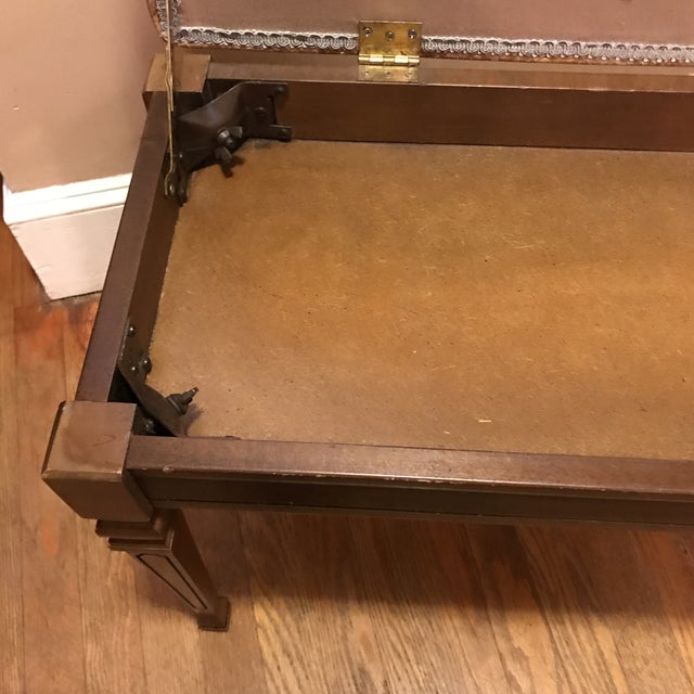 Plastic Mid-Century Piano Bench Storage Stool For Sale - Image 7 of 11