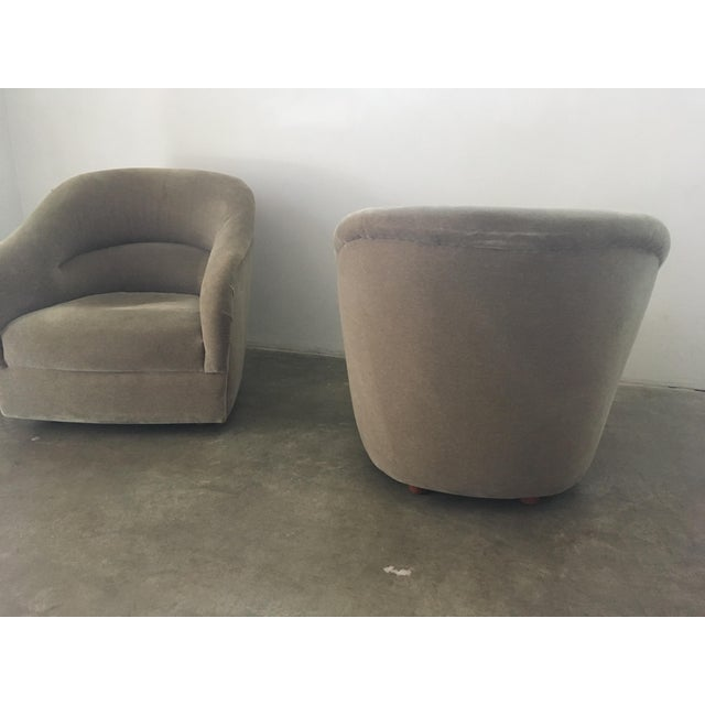 Brickel Associates Pair of Ward Bennett Mohair Club Chairs For Sale - Image 4 of 12
