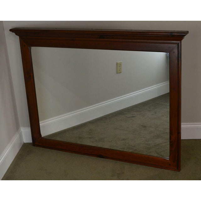 High Quality American Made Solid Pine Wood Frame Mirror by Ethan Allen
