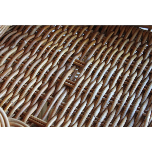 Vintage French Woven Rattan Bar Stools - a Pair For Sale - Image 12 of 13