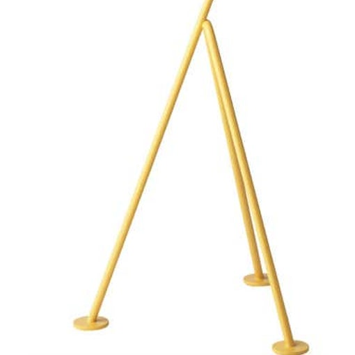 Mid-Century Modern Greta Magnusson Grossman 'Grasshopper' Floor Lamp in Yellow For Sale - Image 3 of 3