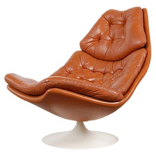 Geoffrey Harcourt F588 Leather Lounge Chair for Artifort For Sale