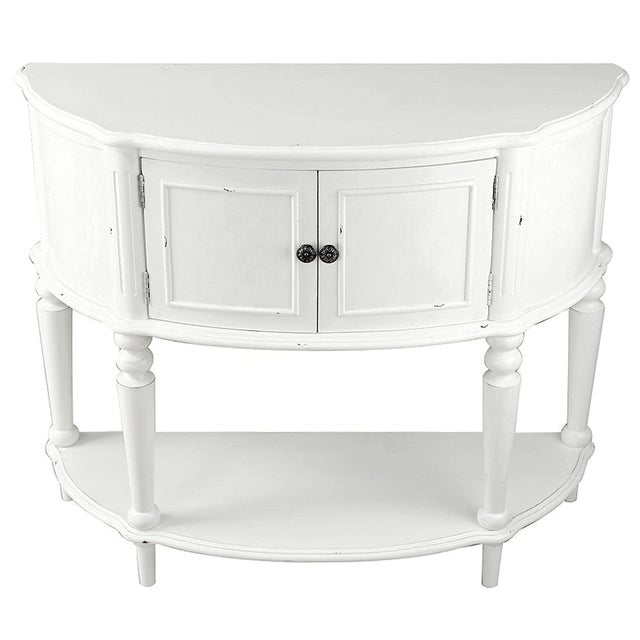 White Cabinet Console Table - Image 1 of 2
