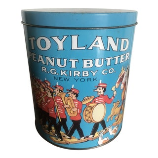 Replica Harry's Grocery r.g. Kirby Co Toyland Peanut Butter Tin For Sale