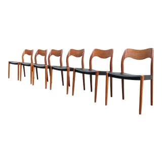 Niels Moller No. 71 Danish Teak Dining Chairs - Set of 6 For Sale