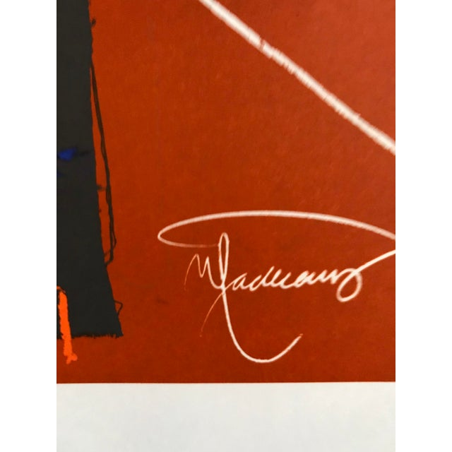 Abstract 1978 Joan-Pere Viladecans Exhibition Poster Lithograph For Sale - Image 3 of 5