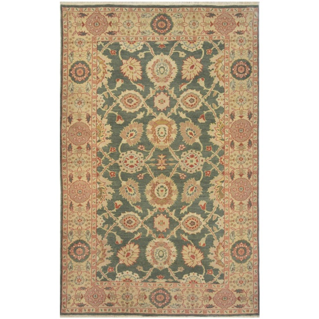 Genuine handwoven Sultanabad rug from Egypt. This Superb quality rug features a sophisticated all-over design and a very...
