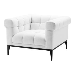 Tufted White Accent Chair | Eichholtz Aurelio For Sale