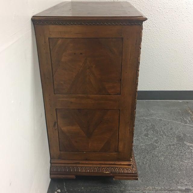 Vintage Carved & Inlaid 4 Drawer Dresser - Image 4 of 9