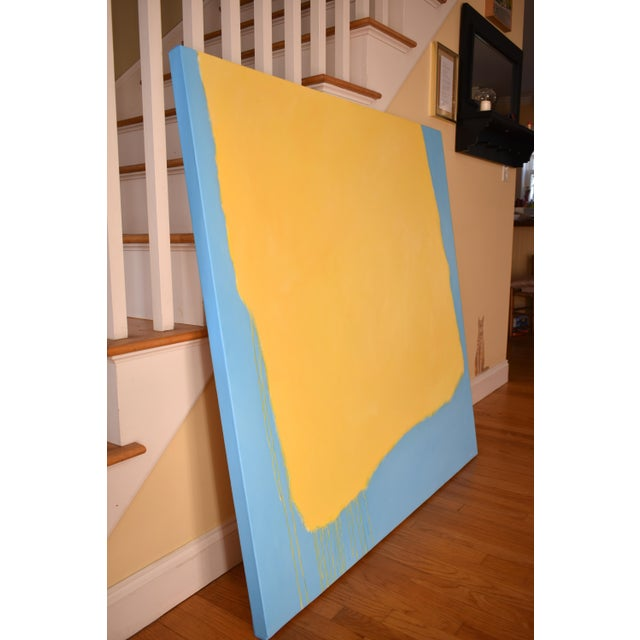 "Canvas Stephen Remick ""Crossing Borders"" Large Contemporary Abstract Painting For Sale - Image 7 of 10"