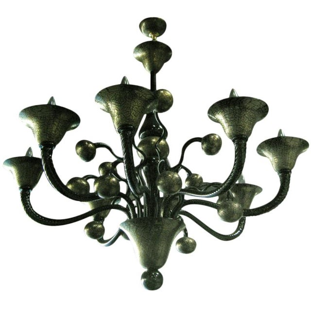 Pino Signoretto Venetian Murano Glass Chandelier by Signoretto For Sale - Image 4 of 4