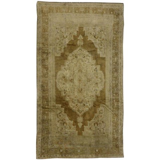 20th Century Turkish Oushak Rug - 6′3″ × 11′1″ For Sale