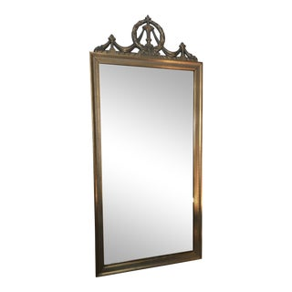 Neoclassical Golden Hall Mirror For Sale