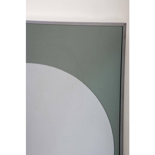 Italian Rectangular and Round Modernist Mirrors with 3d Circles - A Pair For Sale - Image 3 of 6