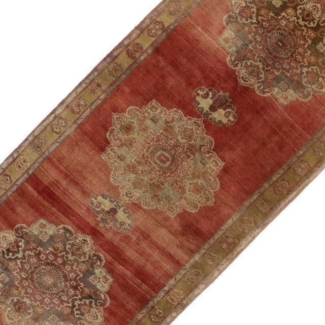 Islamic Vintage Turkish Oushak Carpet Runner For Sale - Image 3 of 6