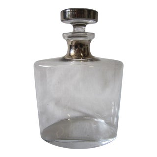 Mid-Century Modern Ombre SIlver Decanter For Sale