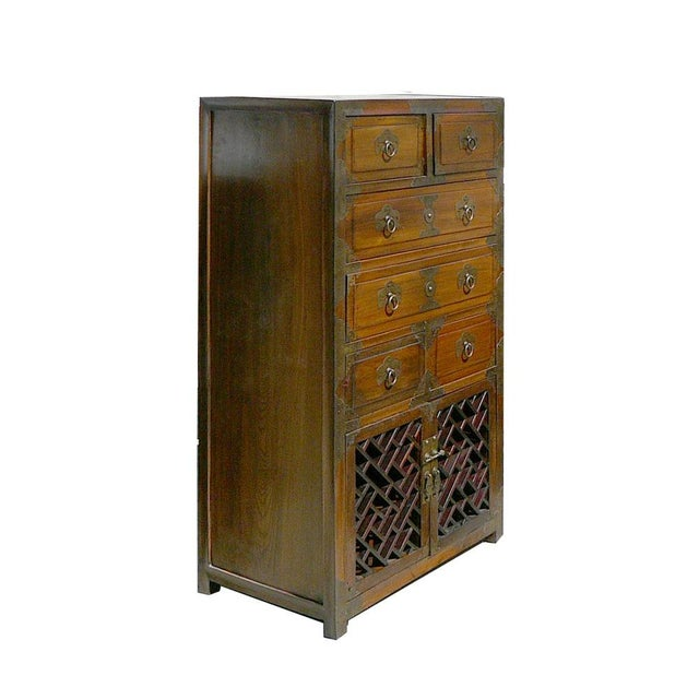 Korean Brass Hardware Accent Dresser - Image 2 of 5