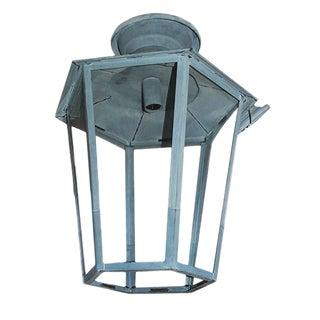 Six-Sided Zinc Lantern For Sale