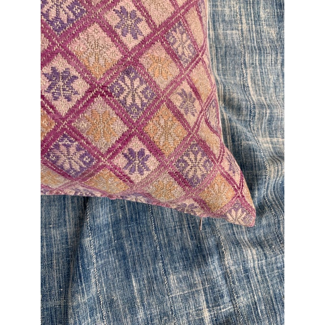 Antique Tribal Wedding Quilt Pillow For Sale - Image 4 of 9