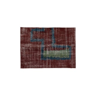 1960s Abstract Art Deco Rug-4′10″ × 6′8″ For Sale