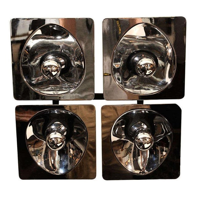 Modernist Four-Way Chrome Sconce & Wall Sculpture by Sciolari For Sale - Image 10 of 10