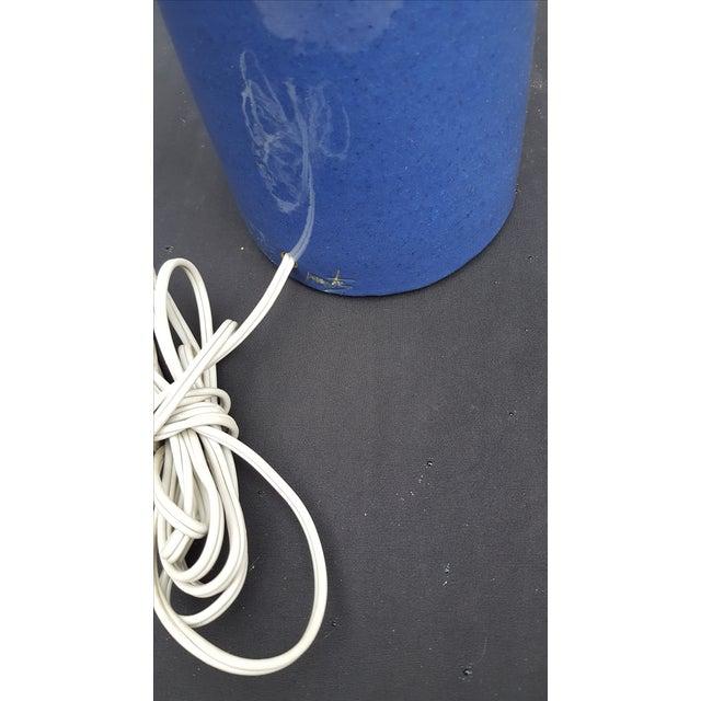 Gordon Martz Blue Pottery Table Lamp - Image 5 of 5