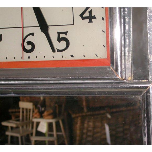 Art Deco Deco Electric Wall Clock For Sale - Image 3 of 7
