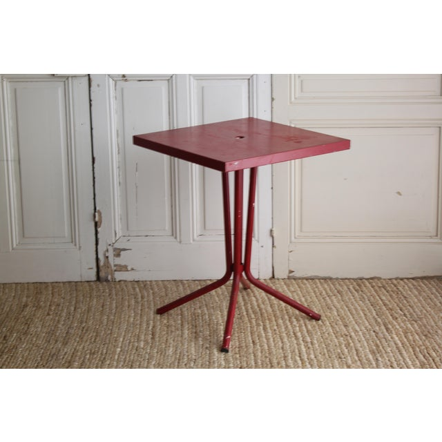 Vintage French Red Garden Table - Image 2 of 8