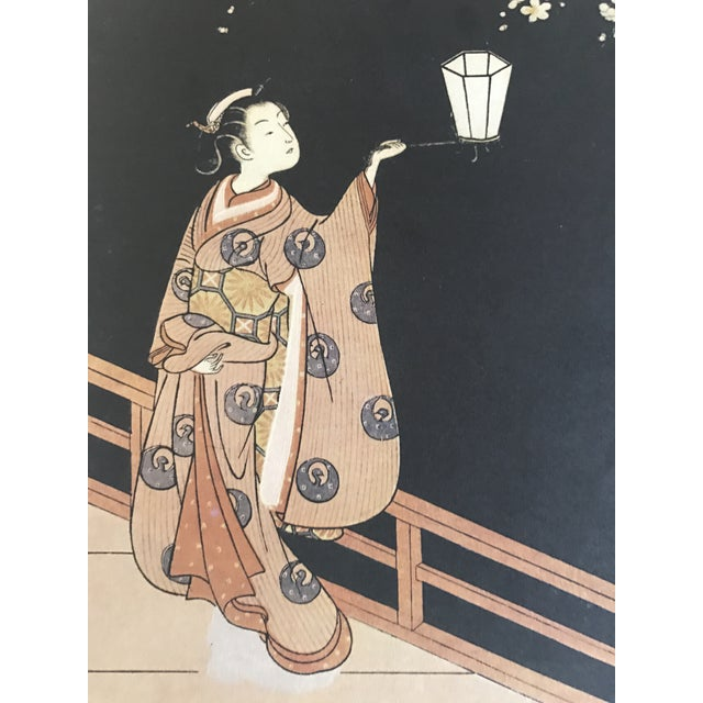 Suzuki Harunobu ( 1725 - 1770 ) Japanese Woodblock Print For Sale - Image 9 of 13